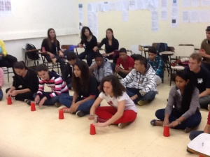 Here the students are performing songs for us in Spanish as in Picture Perfect.