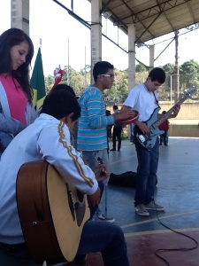 "Some students playing ""The Girl from Ipanema"" for Vicki and me."