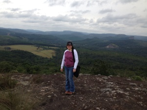 On top of a mountain in Nova Campina