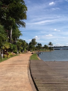 Gorgeous lake in Brasilia where we ate lunch one day