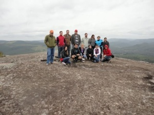 Mountain climbing with teachers from Brazil in Nova Campina